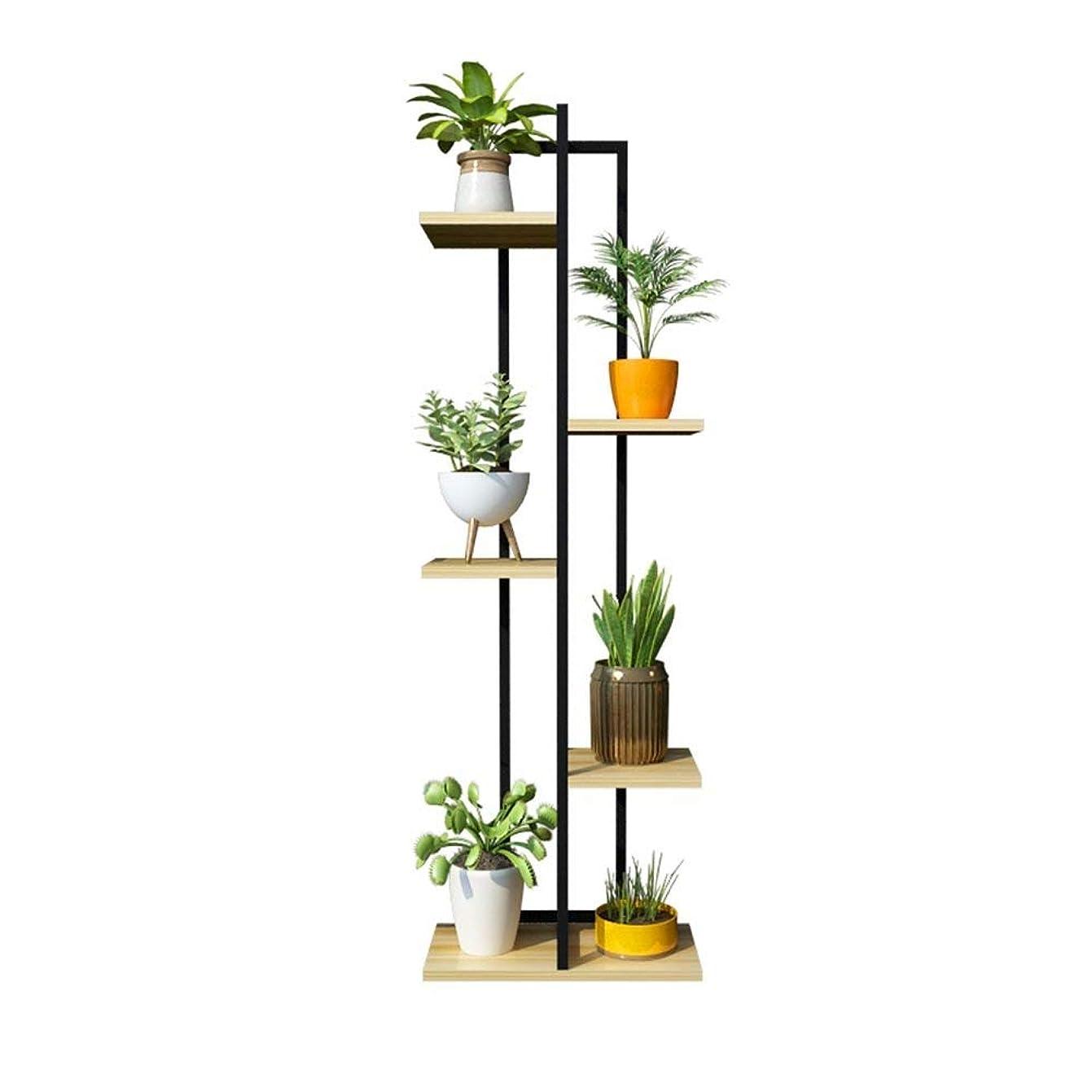 無駄に略すキャンバス植物スタンド、フラワースタンド5層アイアンフラワースタンド/フラワーラック、多機能メタルブラックスタンディングラック盆栽ディスプレイスタンド(#1)