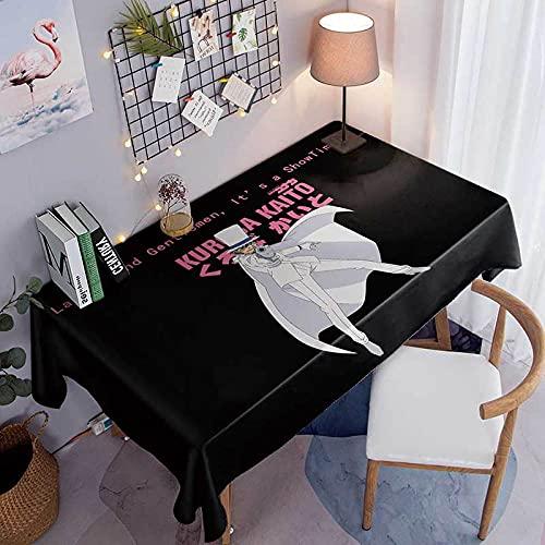 Mantel Rectangular 137x185cm PVC Impermeable Antimanchas Durable Lavable Manteles Hombre de Traje Blanco Impresos Adecuado para Decorar Cocina Comedor Salón