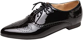 Melady Women Fashion Brogue Shoes Lace Up