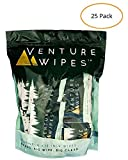 Venture Wipes: Large 12x12 Inch Individually Wrapped Body Wipes (25-Count) - Natural Ingredients &...