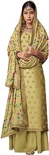 Green Palazzo Suits Collection for Wedding Salwar Kameez Style Dress Muslim Sharara Wedding Custom to Measure Dola Silk Eid 8406