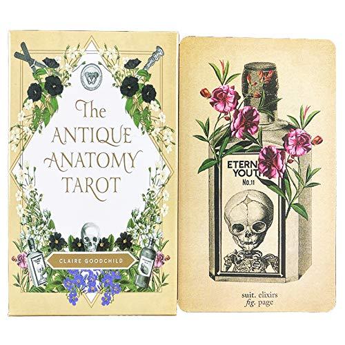 Die antiken Anatomie-Tarot-Spiele-Systeme, Tarot-Deck 78-Karten, Tarotkarten, Tarot-Deck, Familienparty-Brettspiele, Spaß-Spiel-Kartensets (englische Version)
