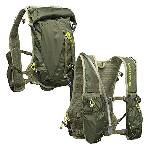 Nathan TrailMix Men's Running Vest/Hydration Pack. 12L (12 Liters) | 2L Bladder Included (2 liters). Zipper, Pocket (Astral Aura/Majesty/Blue Radiance, One Size Fits Most)