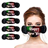 Nopeak 5PCS Unisex Adults Face Scarf with Earmuffs,2021 Winter Warm Mouth-caps,Windproof Washable Face Bandanas