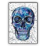 ARjzap DIY Pintar por números cráneo Kit de Pintura por números para niños Adultos Principiantes