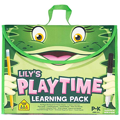 Compare Textbook Prices for School Zone - Lily's Playtime Activity Learning Pack - Ages 3-5, Preschool, Kindergarten, Workbook, Flash Cards, Cut & Paste, Tracing, Mazes, Search & Find, Carrying Case, Pencil & Wipe-Clean Marker  ISBN 9781681473659 by School Zone