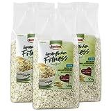 Gerstoni Fitness-Flocken fein, Gerstenflocken, 3er Pack (3 x 500 g) -