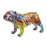 QINGCHU Figura de bulldog inglesa sencilla y moderna de...