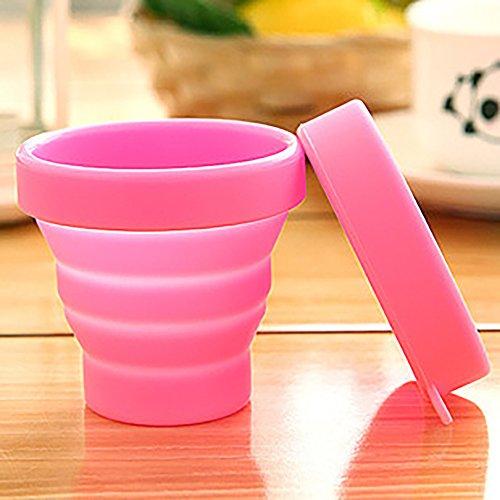 Ouken Tapa Plegable de Silicona Copa de Agua Plegable BPA Tazas de...
