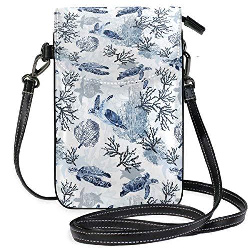 XCNGG Kleine Geldbörse Sea Turtles Cell Phone Purse Wallet for Women Girl Small Crossbody Purse Bags