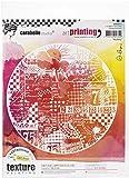 Carabelle Studios Art Printing Round Rubber Texture Stamp, Big Bang, for Gel Monoprint Pla...