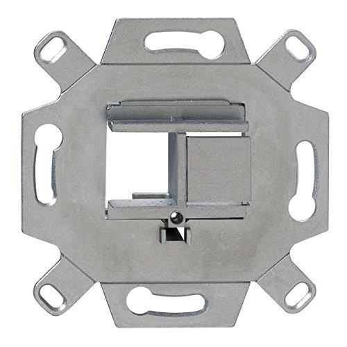 Rutenbeck 13900004 Montageadapter 2-Fach, UM-UMA 2 Up, Silber