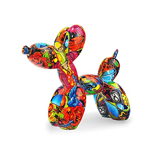 FLJZCZM Balloon Dog Sculptures Animal Statues Home Decor Collectible Figurines Indoor Outdoor Garden Decorative Funny Craft Christmas Birthday for Office (Yellow)