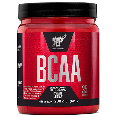 BSN DNA BCAA, Essential Amino Acid Powder, BCAAs Sports Nutrition, Unflavoured, 200 g, 35 Servings