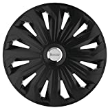 Michelin 92008 Set de tapacubos Fabienne con sistema reflector N.V.S., set de 4 piezas, 33,02 cm, 13 pulgadas, negro