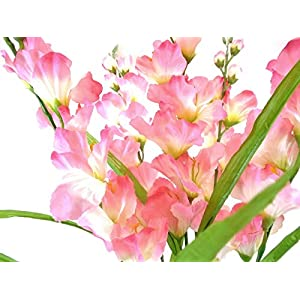 "Silk Flower Arrangements Gladiolus Bush Artificial Flowers 26"" Bouquet -Artificial Plants & Flowers-Artificial Flowers--Wedding Decorations-Flowers-Poinsettia Flowers Artificial-Flower Wall"