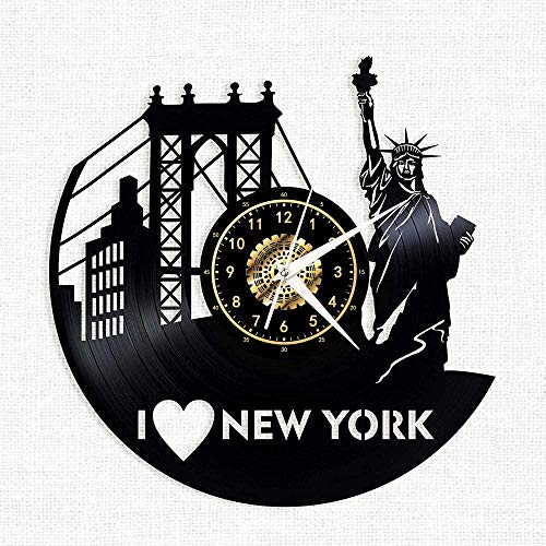 tjxu Reloj de Pared de Vinilo New York Central Park - Regist