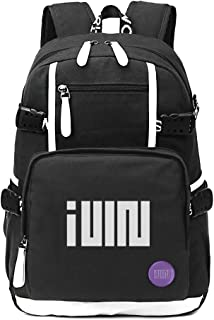 Fanstown kpop (G) I-DLE Backpack canvas bag with pin button badge and lomo card