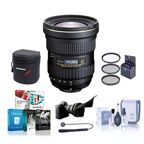 Tokina 14-20mm f/2.0 AT-X Pro DX Lens for Canon EOS - Bundle with 82mm Filter Kit, Lens Case, Cleaning Kit,...