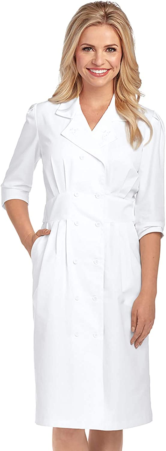 Barco Uniforms Prima 58505 Women's Embroidered Tuck Waist Lab Dress