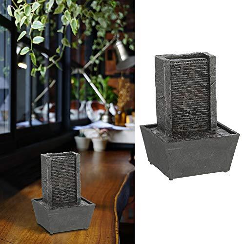 Zimmerbrunnen in Steinoptik │Springbrunnen batteriebetrieben mit Pumpe │13 cm x 19 cm x 10 cm