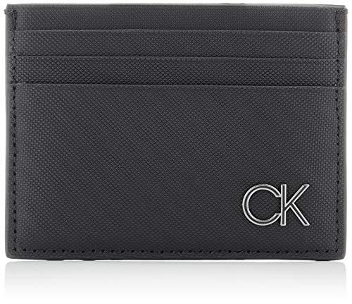 Calvin Klein CARDHOLDER 6CC, Accesorio Billetera de Viaje para Hombre, Black, One Size