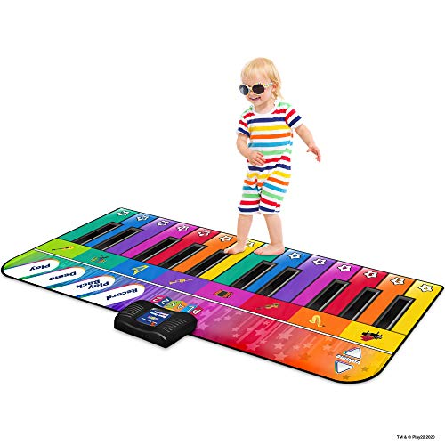"Play22 Colorful Keyboard Playmat 71"" - 24 Keys Piano Play Mat - Piano Mat has Record, Playback, Demo, Play, Adjustable Vol. - Best Keyboard Piano Gift for Boys & Girls - Original"