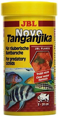 JBL NovoTanganjika 30020 Alleinfutter für räuberische Buntbarsche, Flocken 250 ml