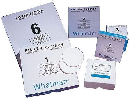 Whatman 1005-042 Qualitative Filter Paper Circles, 2.5 Micron, 94 s/100mL/sq inch Flow Rate, Grade 5, 42.5mm Diameter...