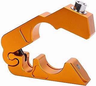 XuBa CNC Motorcycle Handlebar Lock Brake Lever Throttle Grip Security Lock Anti Theft Protection Gold