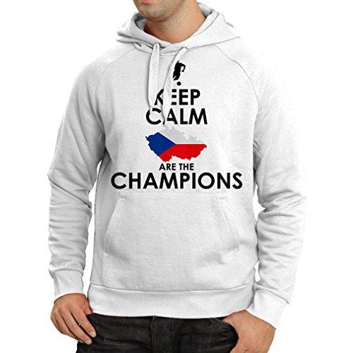 lepni.me N4496H Sudadera con Capucha Czechs Are The Champions (Medium Blanco Multicolor)