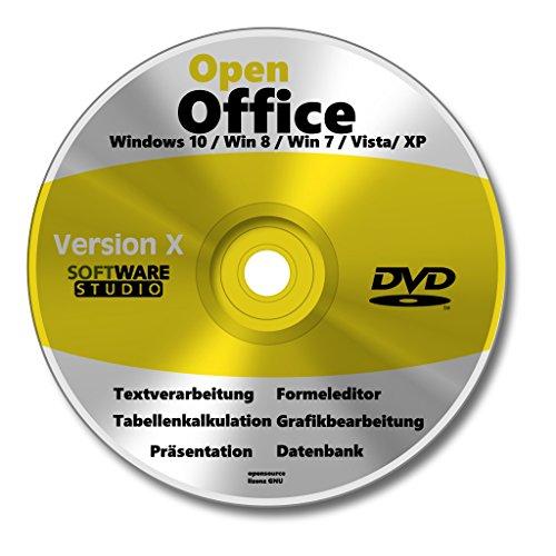 Open Office Paket 2021 Vollversion auf CD DVD Schreibprogramm, Textprogramm