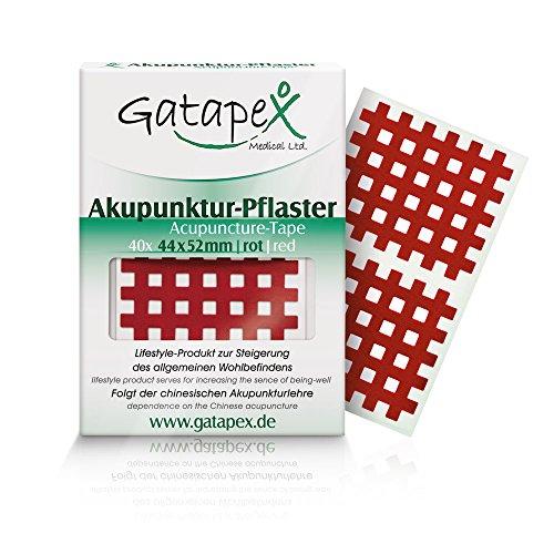 Gatapex Akupunktur-Pflaster (Größe L) 4,4 x 5,2cm rot 40 Stück