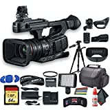 Canon XF705 4K 1' Sensor XF-HEVC H.265 Pro Camcorder (3041C002) with UV Filter, Tripod, Padded Case, LED Light, 64GB Memory Card and More Starter Bundle