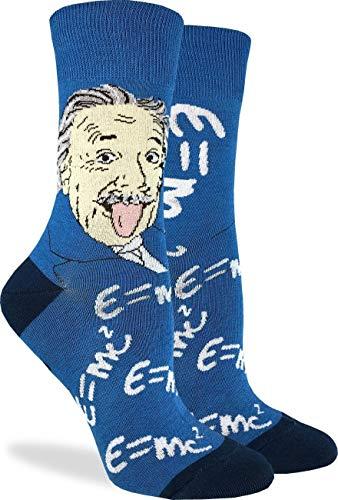 N\A Damen Albert Einstein Socken - Blau, Schuh für Erwachsene Größe 5-9