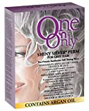 One 'n Only Shiny Silver Perm with Argan Oil for Gray Hair, Enhances Natural Silver Highlights, Exothermic Chemical Heat Ensures Gentle, Deep, and Even Processing