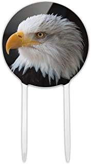 GRAPHICS & MORE Acrylic Stoic Bald Eagle Cake Topper Party Decoration for Wedding Anniversary Birthday Graduation
