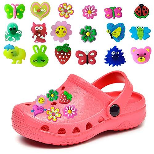 ZOYLINK 50 STÜCK Schuhe Charme Schuhanhänger für Crocs Schuhe Dekoration Charme Modische süße Blume Form PVC Schuhe Dekor (Zufällige Stil/Farbe)