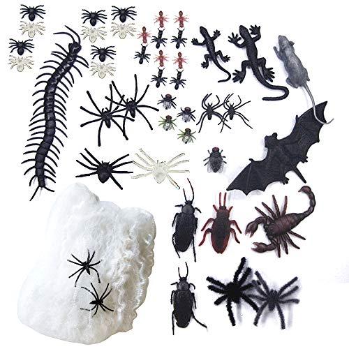 Skystuff, ragnatela per Halloween, ragnatela, per interni ed esterni, con 1 ragnatela falso ragnatela per feste di Halloween