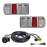 LED Rückleuchten Set Anhänger inkl. Kabelsatz 5m mit 13-polig Stecker