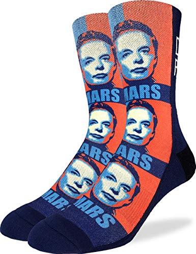 Good Luck Sock Men's Elon Musk Socks, Adult