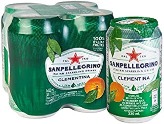 San Pellegrino Clementina Can, 330ml, (Pack of 4)