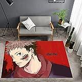 XuJinzisa Tappeto di Stampa Anime Giapponese 3D Tappeto Morbido Antiscivolo Soggiorno Camera da Letto Decorazione Domestica Tappeto 120X120Cm H5741