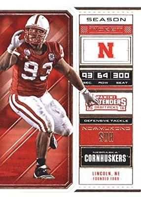 2018 Panini Contenders Draft Picks Season Ticket #75 Ndamukong Suh Nebraska Cornhuskers Football Card