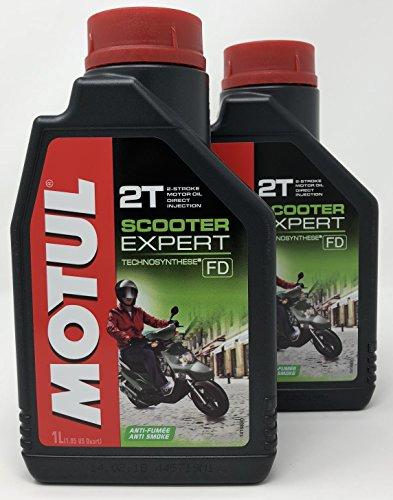 MOTUL Aceite Moto 2T Scooter Expert 2T, 2 litros (2x1 lt)