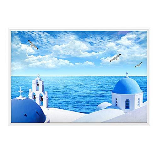 BIN Peinture Chauffage électrique Économie d'énergie Décoratif Infrarouge lointain Chauffage Mural Qualité HD Peinture Carbon Crystal Wall Chaud