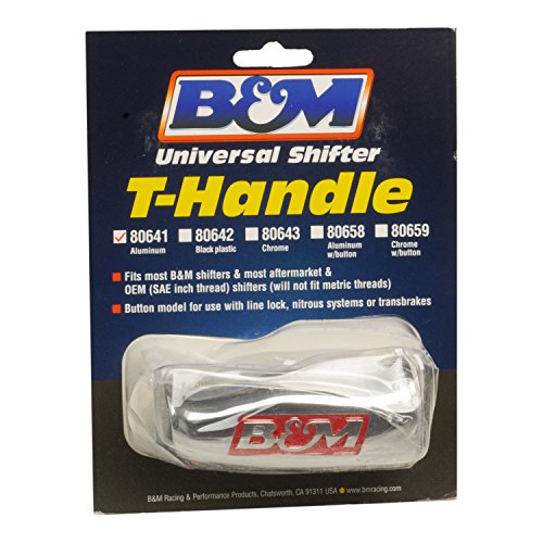 B&M 80641 Brushed Aluminum T-Handle Shifter Knob