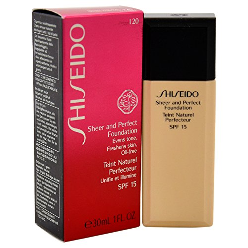 Shiseido Sheer and Perfect SPF 15# I20 Natural Light Ivory Foundation for Women, 1 Ounce
