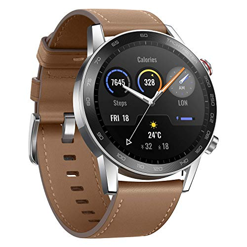 "Honor MagicWatch 2 Smart Watch, 1.39"" AMOLED 5ATM Waterproof 14 Days Standby Smart Bracelet with GPS Bluetooth 46mm Fitness Tracker Activity Tracker (Brown, 46mm)"