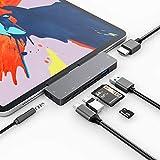3XI USB C Hub für iPad Pro/iPad Air 4, 7 in 1 Typ C auf HDMI 4K Adapter, PD...